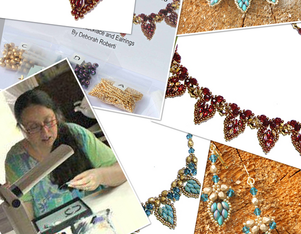 Drop Petal Necklace & Earrings - September 2016 BeadTrove Course Kit