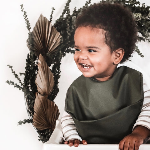 Olive | Snuggle Bib Waterproof