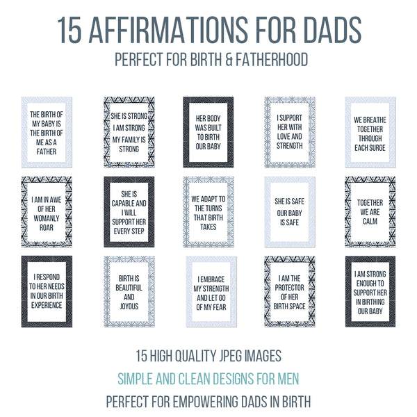 Birth Affirmation Cards for Dads and Support Partners