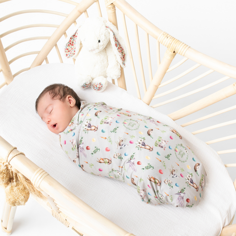 "Limited Edition ""Arley"" Happy Easter - Bamboo Jersey Swaddle"