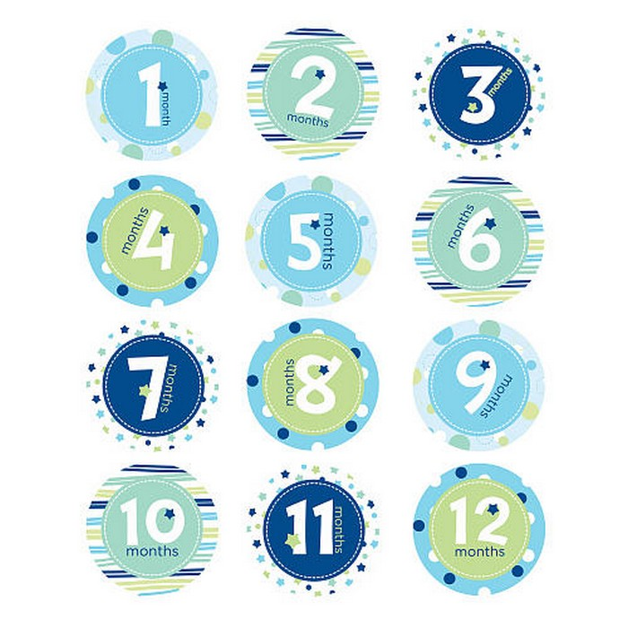 Pearhead - First Year  Milestone Stickers - Blue