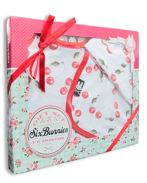 Six Bunnies - Cherries 3 Piece Set