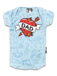 Six Bunnies - Dad - Blue Romper