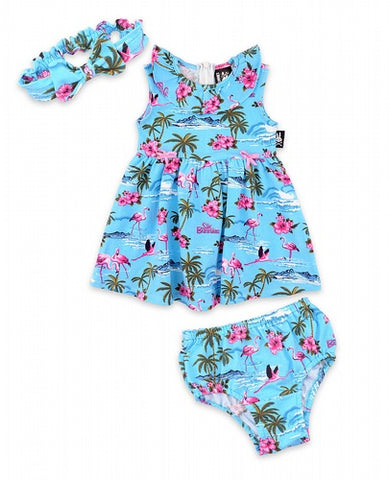 Six Bunnies - Flamingos Blue - 3 piece Set