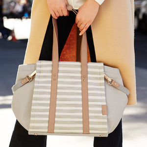 SkipHop Highline Tote - Oyster Stripe