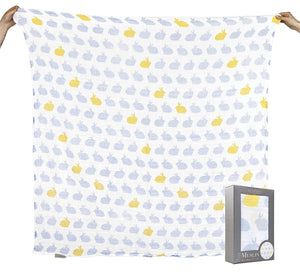 The Little Linen Company Australia - Baby Muslin Swaddle Blanket - Hop Blue