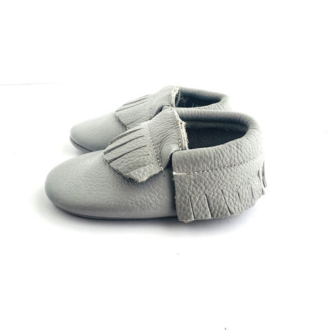 Little Leather - Classic Grey - Soft Soled Shoes