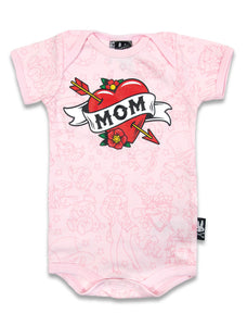 Six Bunnies - Mom - Pink Romper