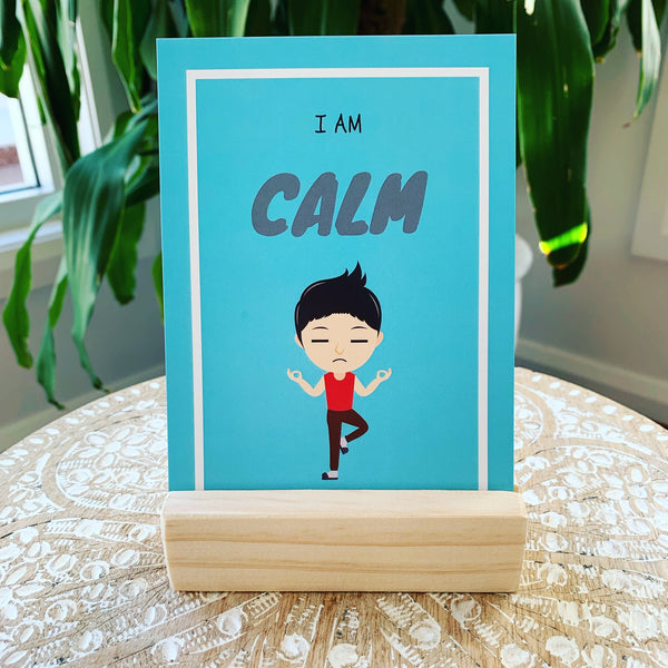 Bespoke Timber Stand for Affirmation Cards