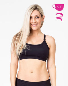Maternity/Nursing Racerback Bra - Everyday Bra - Black