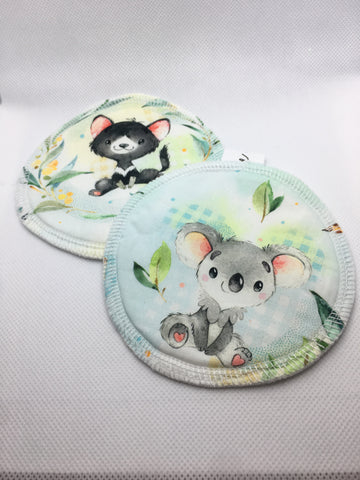 Reusable Breast Pads - Baby Australian Animals