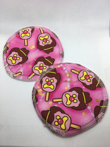 Reusable Breast Pads - Bubble 'O Bill - PINK