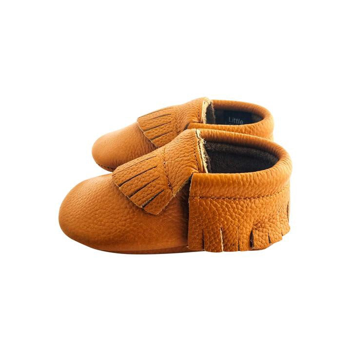 Little Leather - Classic Caramel - Soft Soled Shoes
