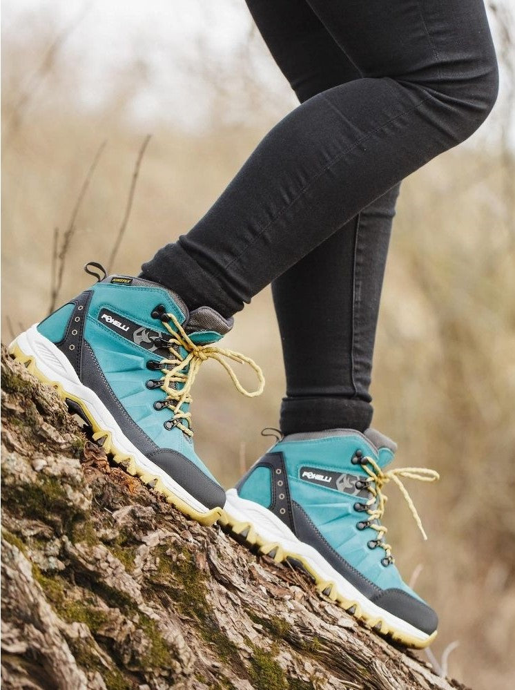 Foxelli Hiking Boots For Women | Waterproof | Teal