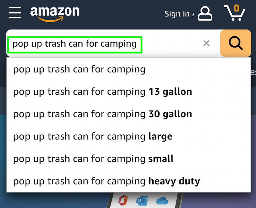 pop up trash can for camping