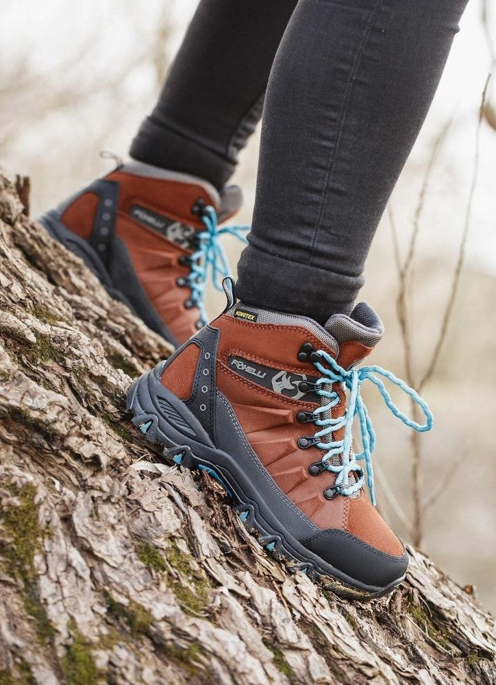 Foxelli Hiking Boots For Women | Waterproof | Brown