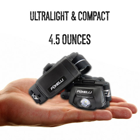 Foxelli USB Rechargeable Headlamp Flashlight MX500