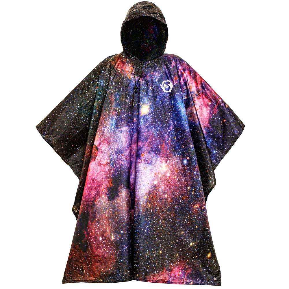Hooded Reusable Rain Poncho - Cosmic