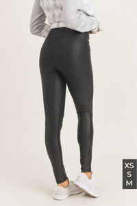 Crackle Foil Glazed Highwaist Legging