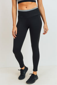 Diamond Jacquard High Waist Legging