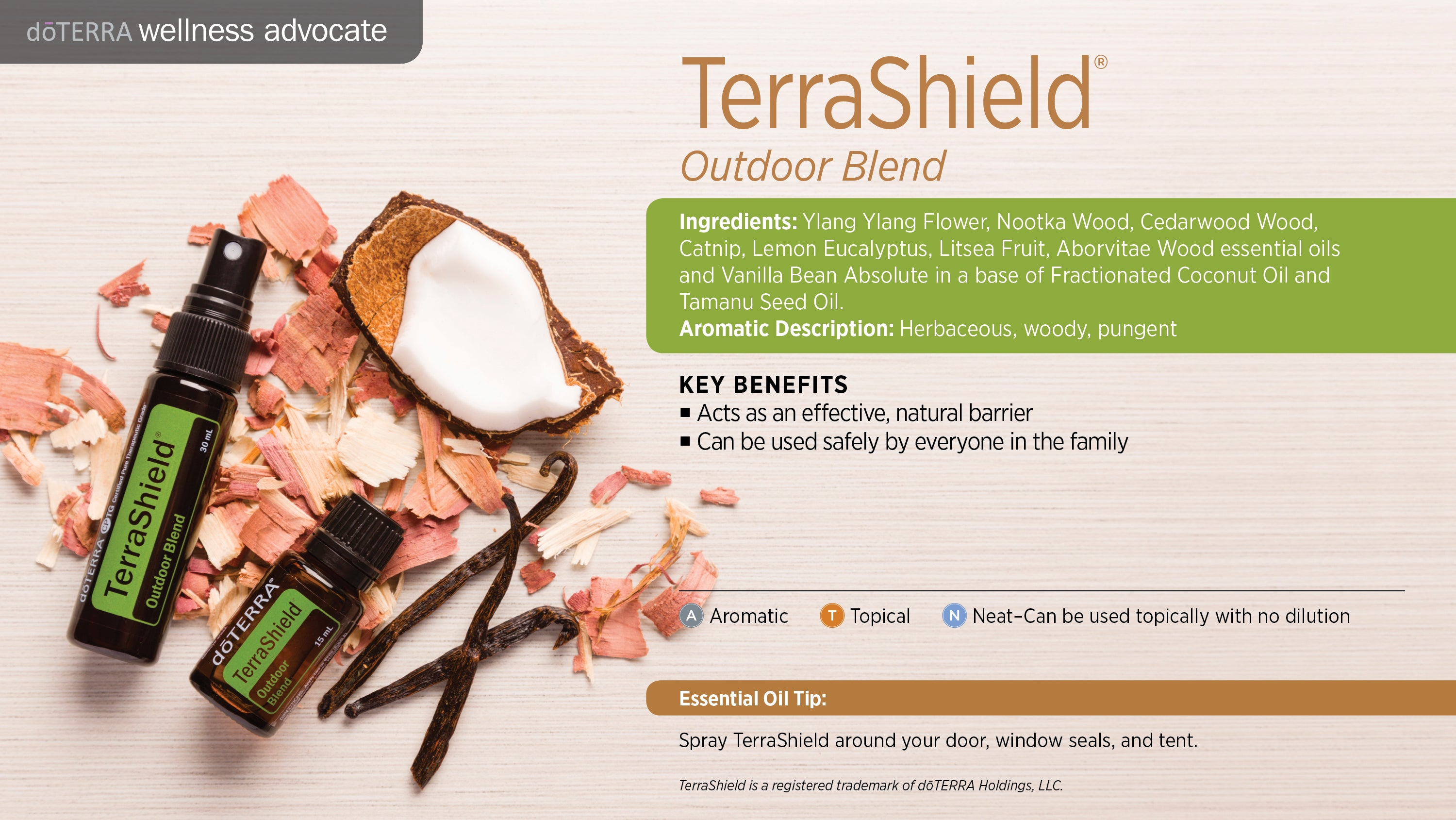doTERRA TerraShield Outdoor Blend Essential Oil
