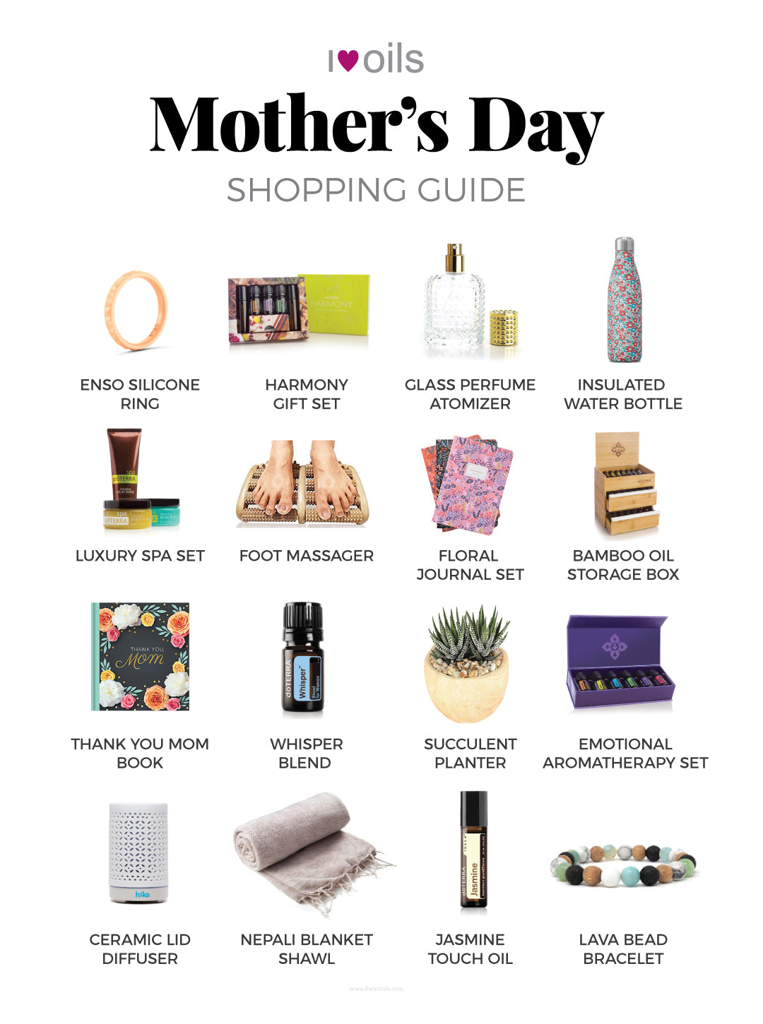 I Heart Oils Mother's Day Gift Guide