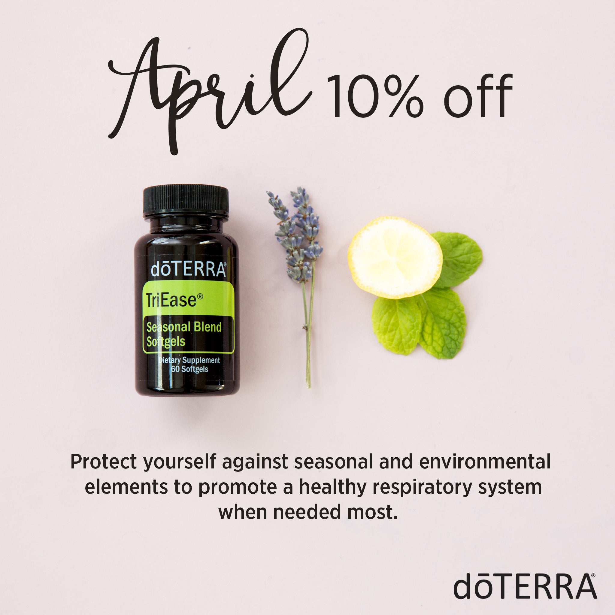 doTERRA TriEase on sale April 2018