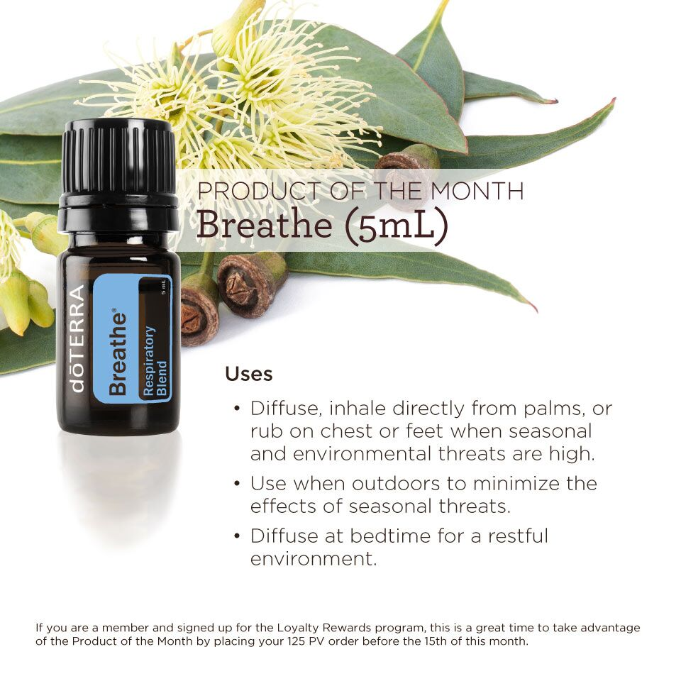 doTERRA Breathe LRP Product of the month April 2018