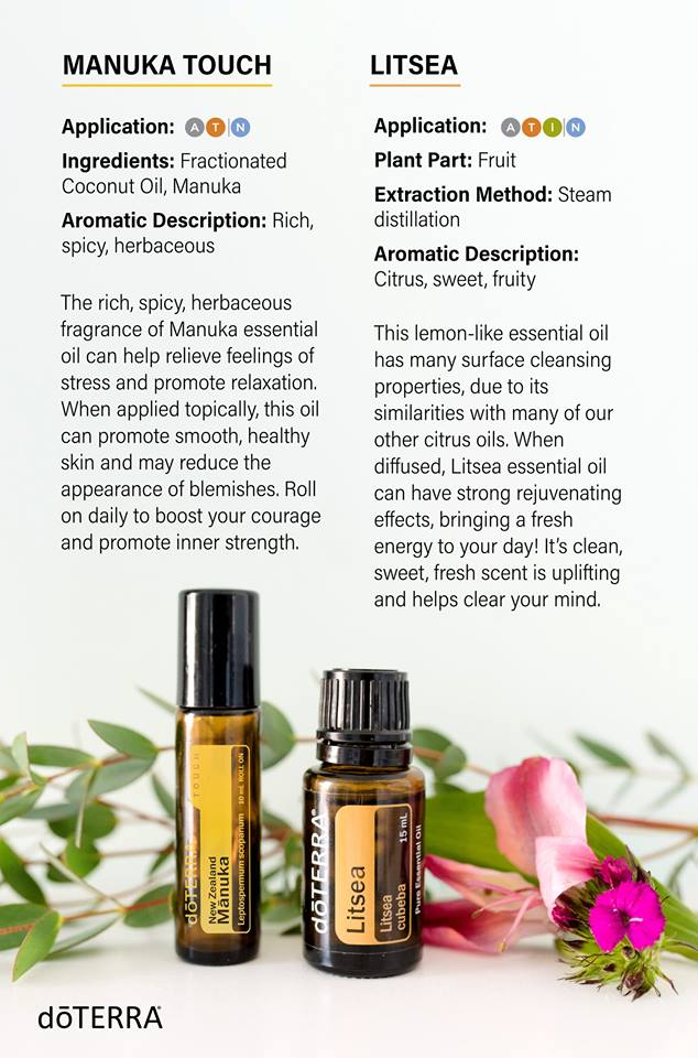 doTERRA Litsea and Manuka Touch Essential Oils