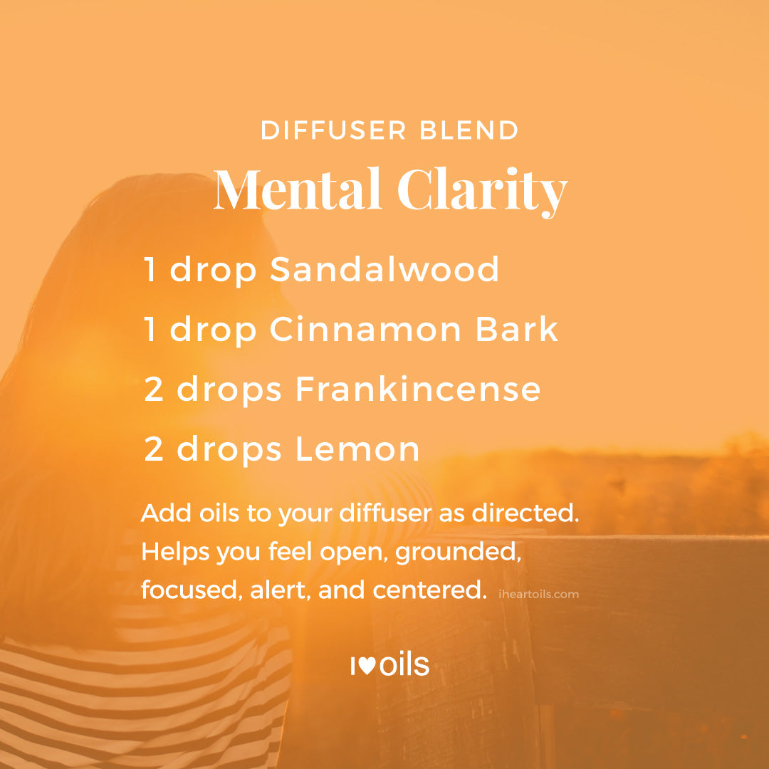 Mental Clarity Essential Oil Diffuser Blend