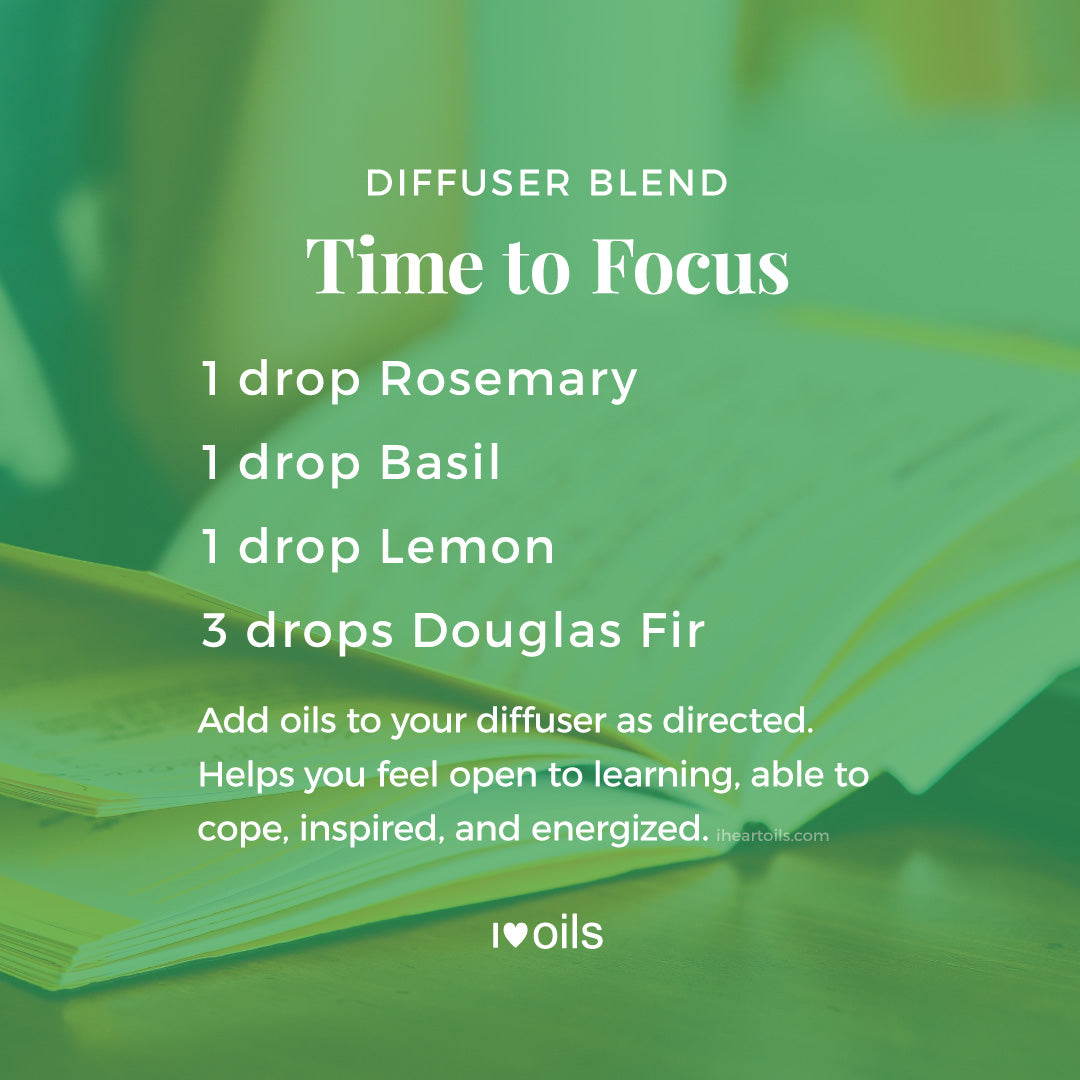 Time to Focus Essential Oil Diffuser Blend