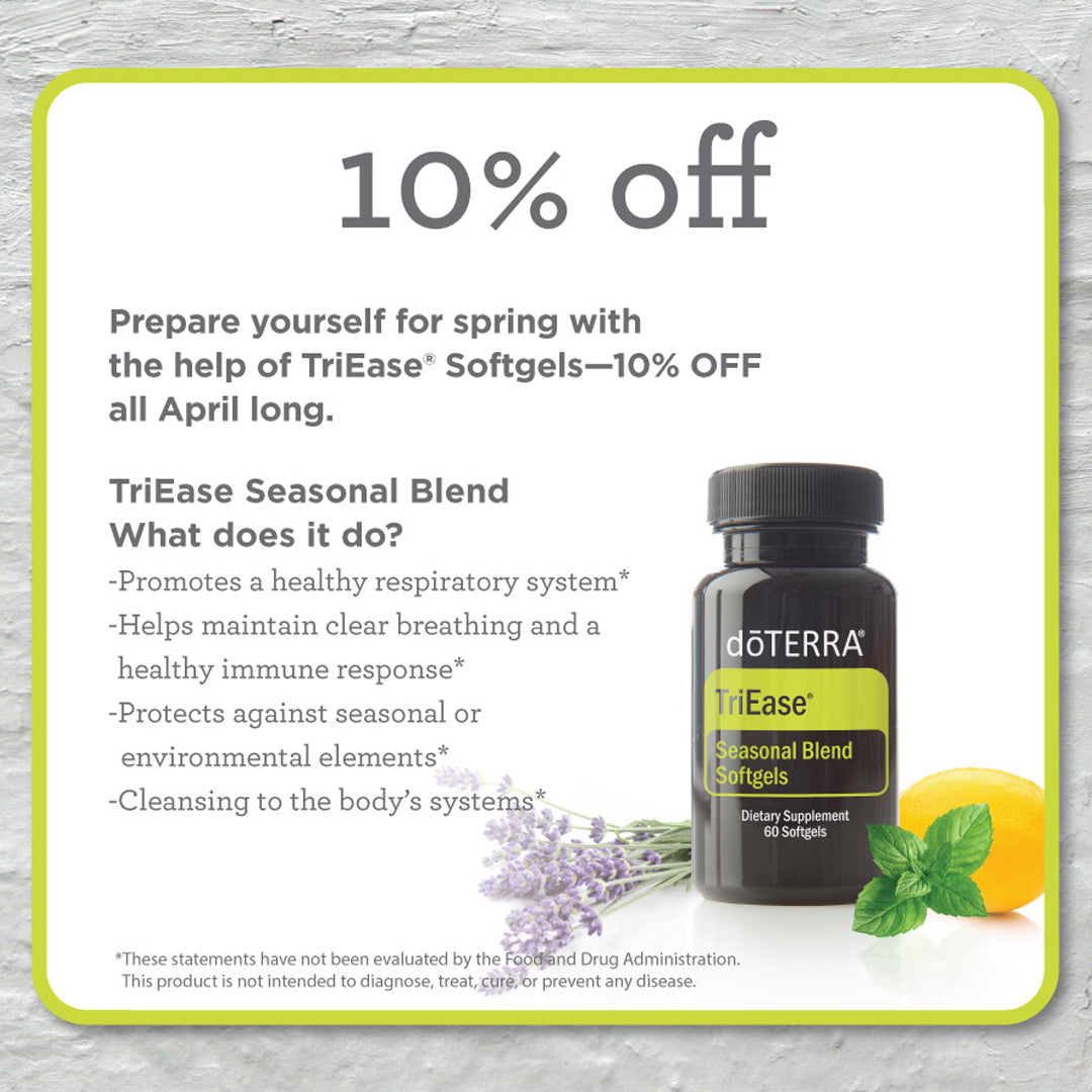 doTERRA April 2019 Triease Softgels 10% Discount