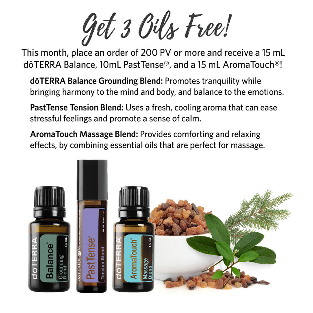 doTERRA June 2019 Get 3 Oils Free Promotion