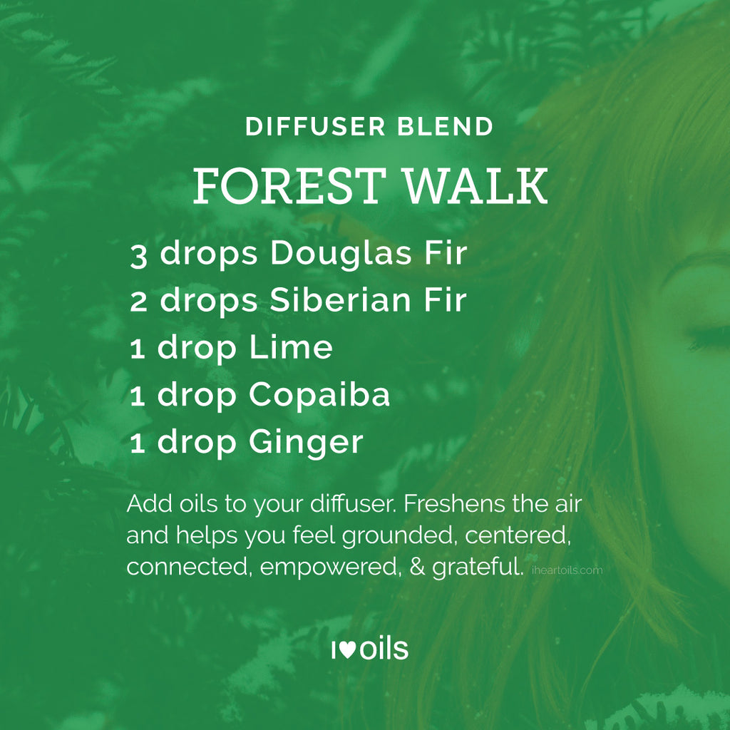 I Heart Oils Custom Essential Oil Diffuser Blend Forest Walk