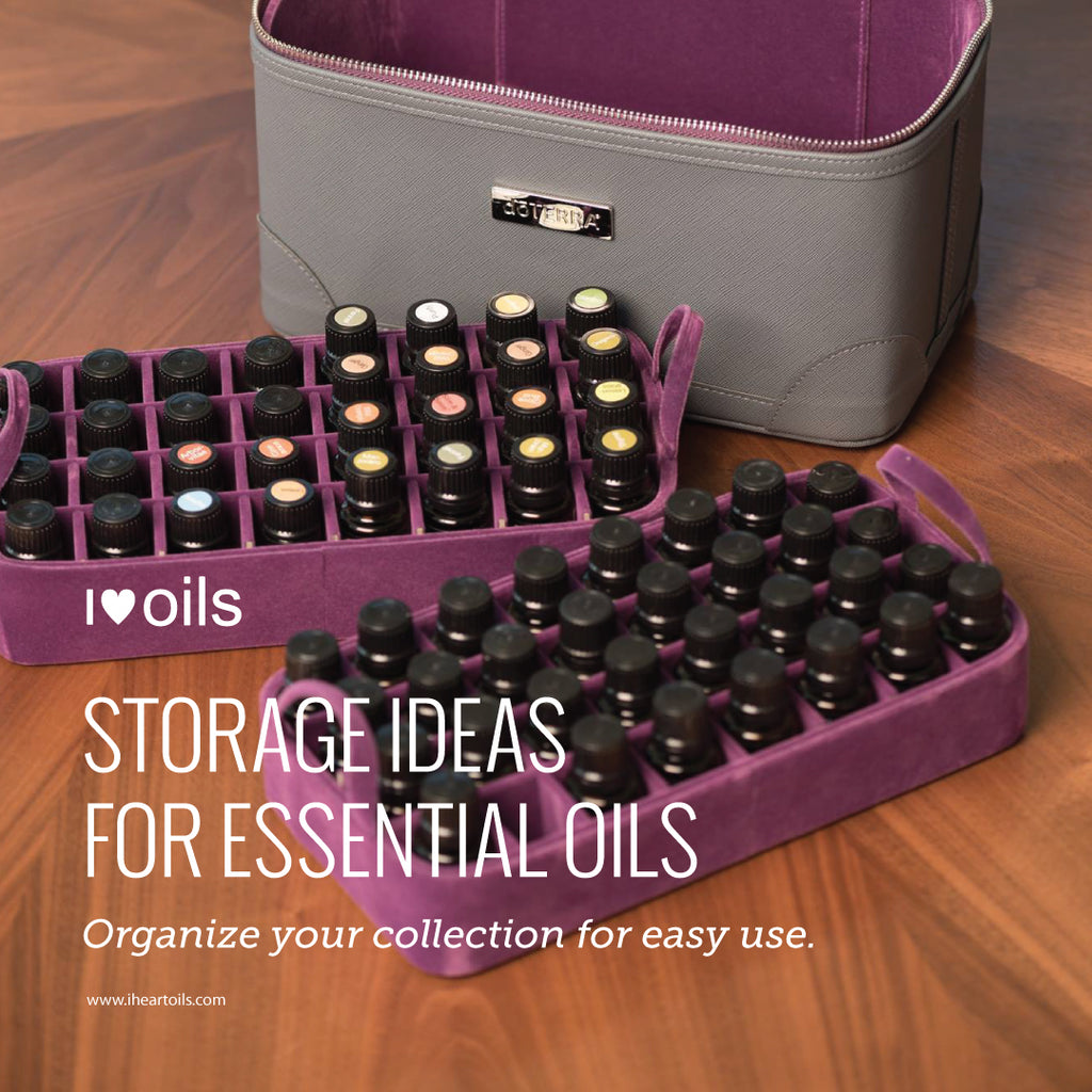 I Heart Oils Essential Oils Storage Ideas