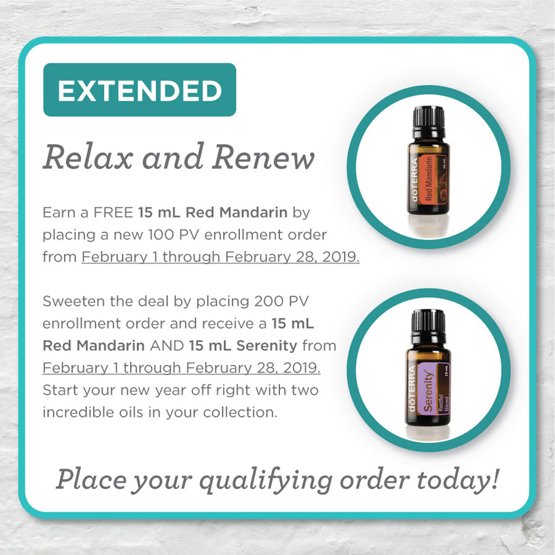 doTERRA Relax & Renew Promotion