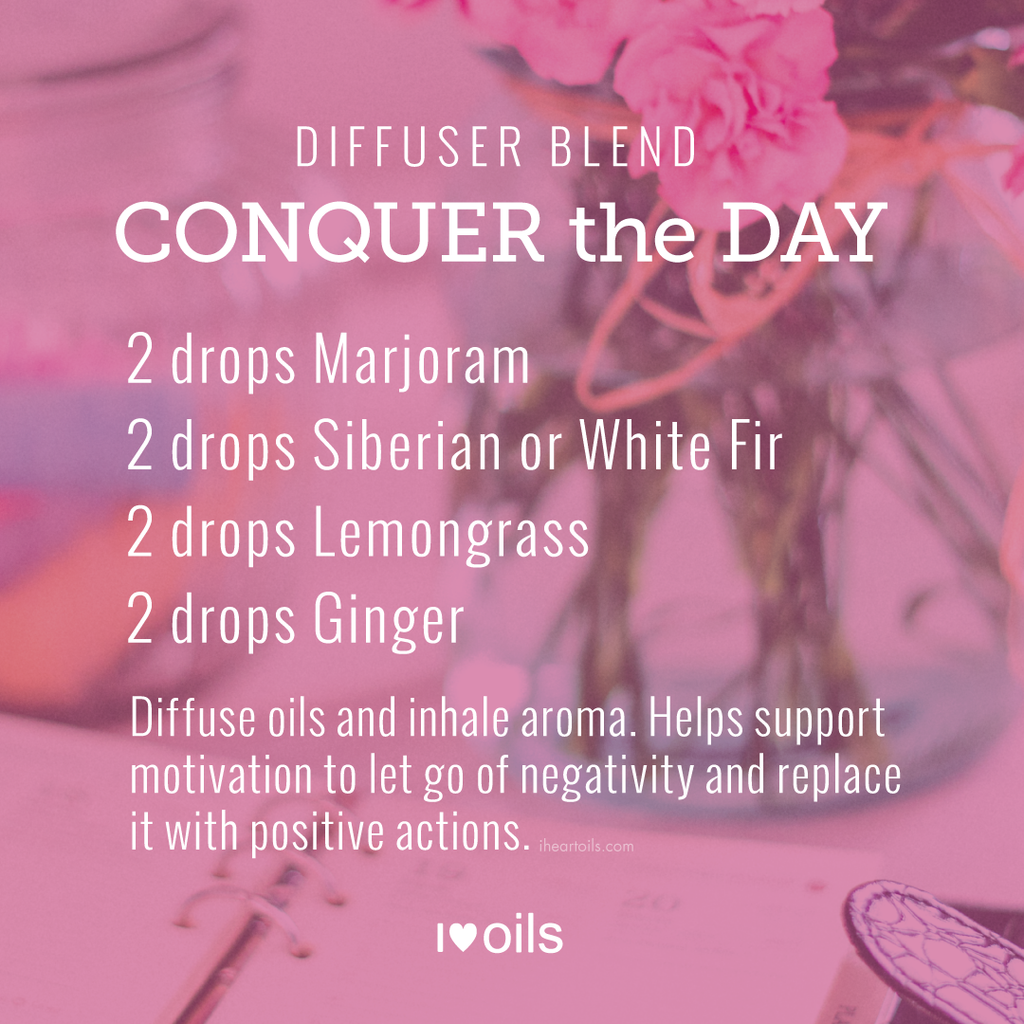 Conquer The Day doTERRA Essential Oil Diffuser Blend