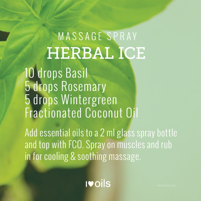 Herbal Ice Essential Oil Massage Spray