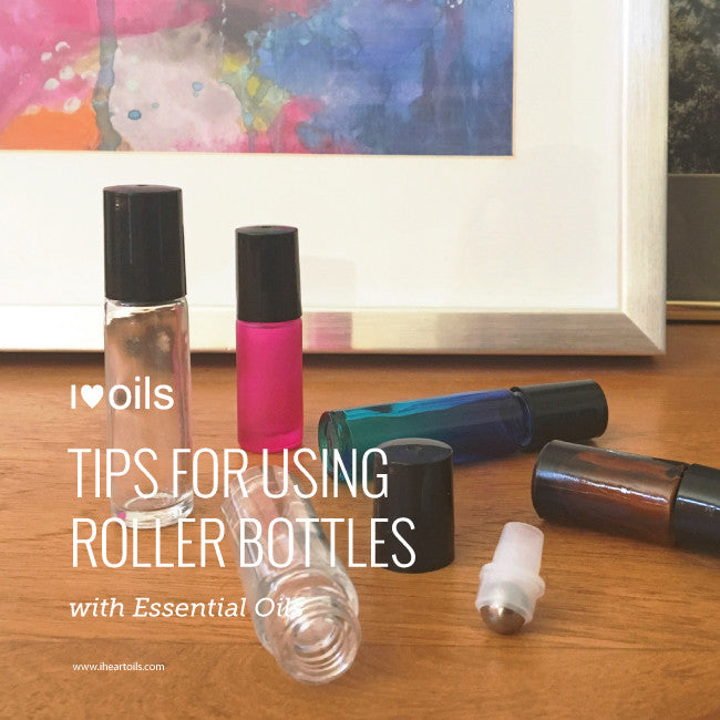 Tips for using roller bottles with essential oils