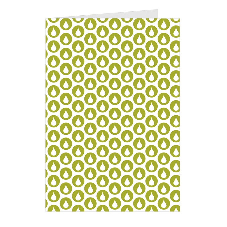 Green Drop Notecards