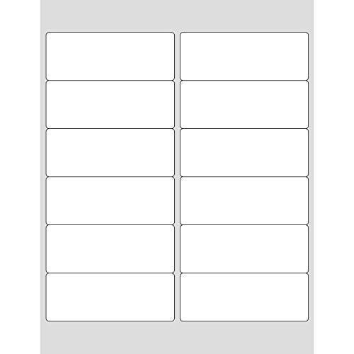1.5in x 4in Rectangular White Vinyl Labels (60 Count)