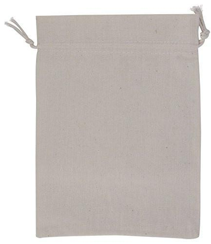 100 Percent Cotton Muslin Drawstring Bags 12-Pack For Storage Pantry Gifts (3 x 5 inch, White)