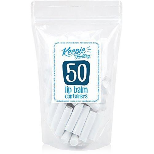 .15oz White Plastic Lip Balm Tubes (50 Pack)