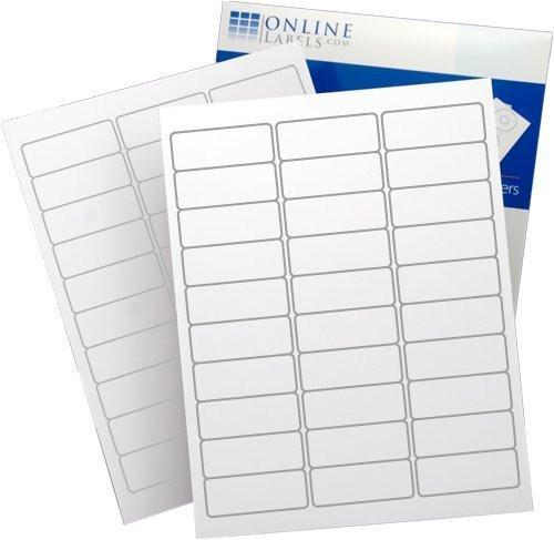 1in x 2.625in Rectangular White Labels (3000 Count)