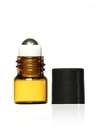 1ml Amber Glass Roller Bottles (12 Pack)