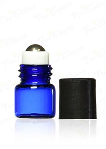 1ml Cobalt Blue Glass Roller Bottles (12 Pack)