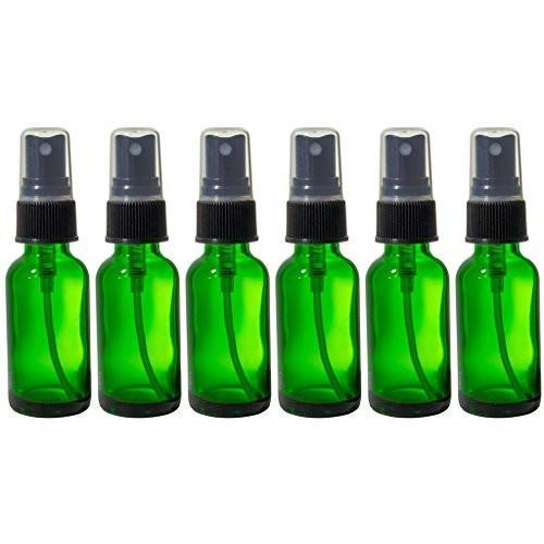 1oz Green Glass Spray Bottles (6 Pack)