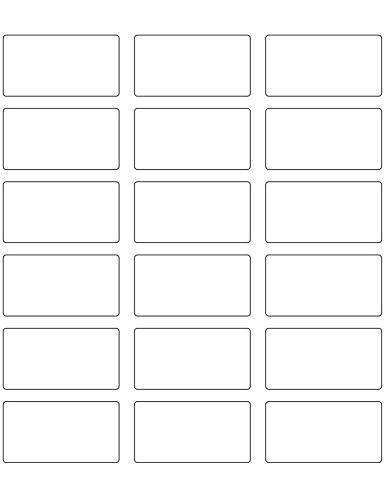 2.375in x 1.25in Rectangular White Vinyl Labels (90 Count)