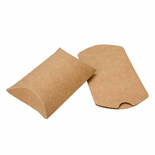 2.5in x 4in Kraft Pillow Boxes With Seals (50 Pack)