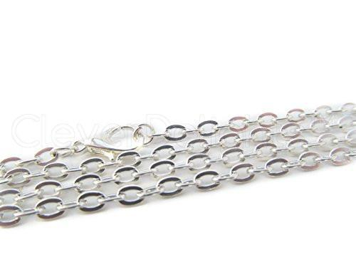 23.6in Silver Toned Necklaces (20 Pack)